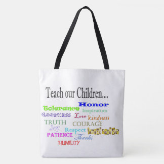 Bolsa Tote Ensine a nossas crianças a sacola