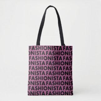 Bolsa Tote Entalhe roxo bonito do texto do Fashionista