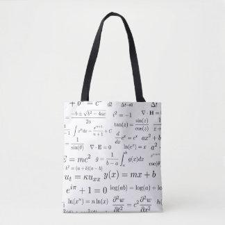 Bolsa Tote Equações da sacola da matemática e da ciência