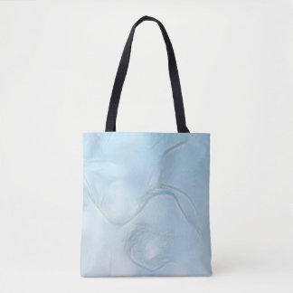 Bolsa Tote Esboço da flor de duas tulipas no azul de gelo
