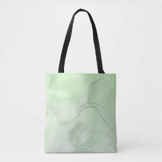 Bolsa Tote Esboço da flor de duas tulipas no verde