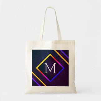 Bolsa Tote Esboços à moda do roxo & do arco-íris com