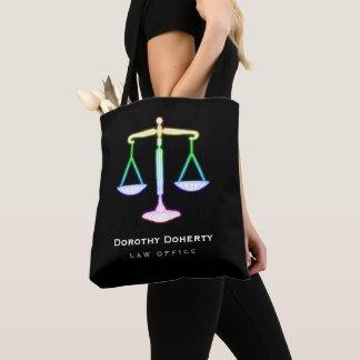 Bolsa Tote Escalas coloridas do fulgor do advogado de justiça
