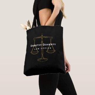 Bolsa Tote Escalas douradas gráficas do advogado de justiça |