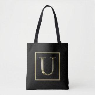 Bolsa Tote Escolha seu próprio saco brilhante do monograma do