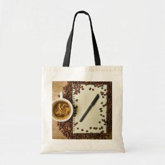 Bolsa Tote Escrita e café