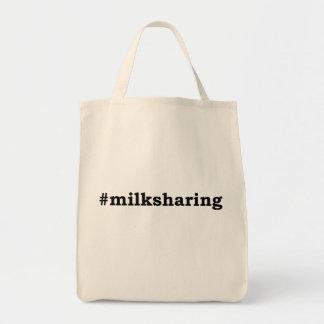 Bolsa Tote escrita preta #milksharing