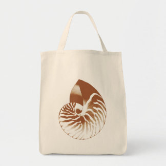 Bolsa Tote Escudo do nautilus - marrom e branco do cacau