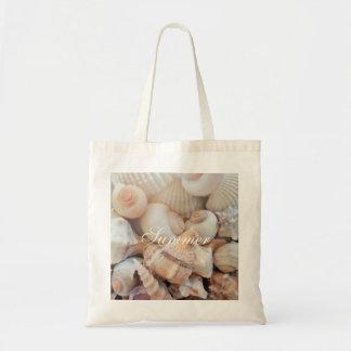 Bolsa Tote Escudos do mar, romântico tropical exótico da