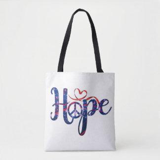 Bolsa Tote Esperança para a sacola da paz