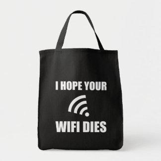 Bolsa Tote Espere seus dados de Wifi