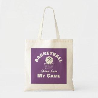 Bolsa Tote Esportes engraçados do basquetebol que dizem o