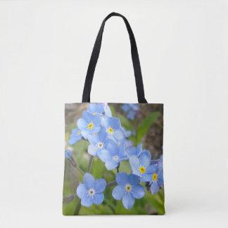 Bolsa Tote Esqueça-me não saco das flores