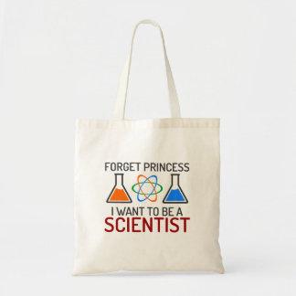 Bolsa Tote Esqueça o cientista da princesa Eu Querer Ser