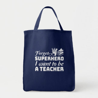 Bolsa Tote Esqueça o super-herói que eu quero ser um