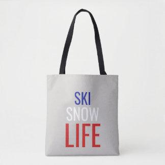 Bolsa Tote Esqui, neve, sacola da vida