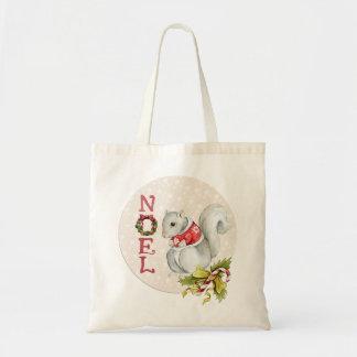 Bolsa Tote Esquilo festivo de Noel