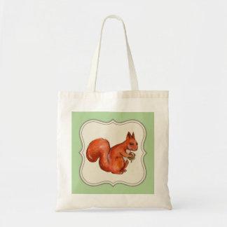 Bolsa Tote esquilo vermelho que guardara a sacola da bolota,