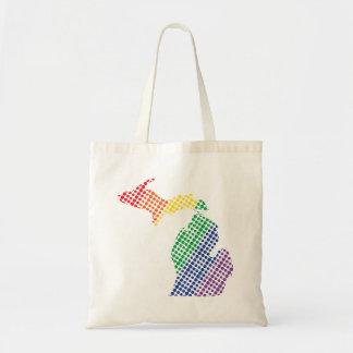 Bolsa Tote Estado do arco-íris de Michigan