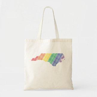 Bolsa Tote Estado do arco-íris de North Carolina
