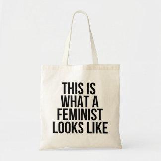 Bolsa Tote Este é o que uma feminista olha como - feminismo