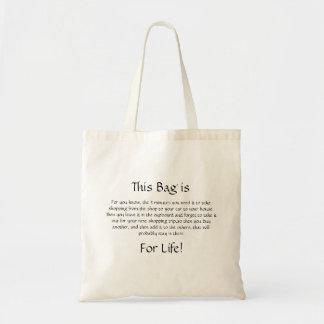 Bolsa Tote Este saco é para o tipo de Life* de…