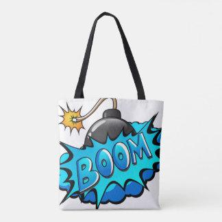 Bolsa Tote Estilo cómico da bomba dos desenhos animados