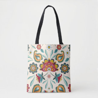 Bolsa Tote Estilo floral do indonésio de Boho do Batik