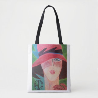 Bolsa Tote Estilo tropical do art deco por Anne DePasquale