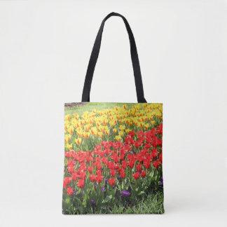Bolsa Tote Estrada das tulipas