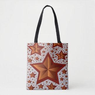 Bolsa Tote estrelas