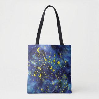 Bolsa Tote Estrelas azuis da sacola
