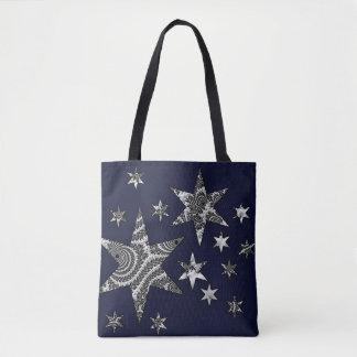 Bolsa Tote Estrelas da fantasia 3 D