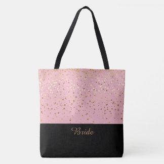 Bolsa Tote Estrelas douradas cor-de-rosa & pequenos da sacola