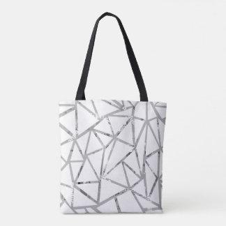 Bolsa Tote Estrutura dos triângulos com uma colagem das pias