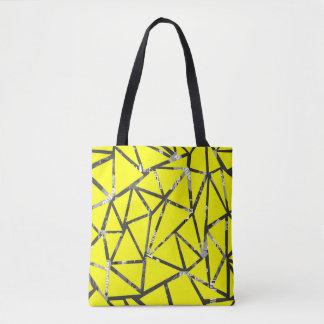 Bolsa Tote Estrutura dos triângulos com uma colagem do