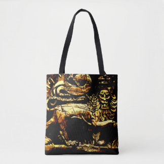 Bolsa Tote Etíope antigo de Rasta por todo o lado na sacola