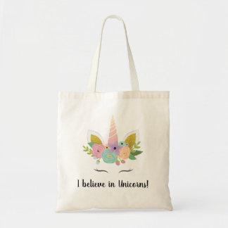 Bolsa Tote Eu acredito na sacola dos unicórnios