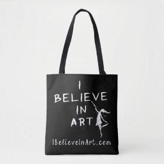 Bolsa Tote Eu acredito no promocional da arte