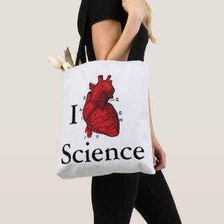 Bolsa Tote Eu amo a ciência