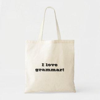 Bolsa Tote Eu amo a gramática