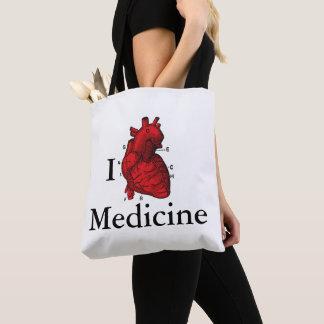 Bolsa Tote Eu amo a medicina
