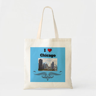 Bolsa Tote Eu amo a sacola de Chicago