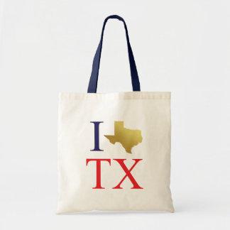 Bolsa Tote Eu amo a sacola de Texas