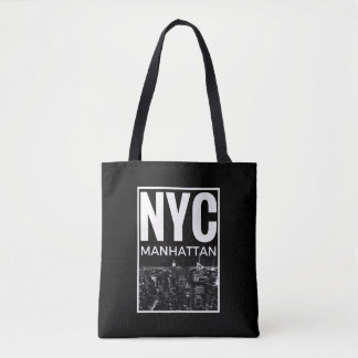 Bolsa Tote Eu amo a skyline de NYC New York Manhattan