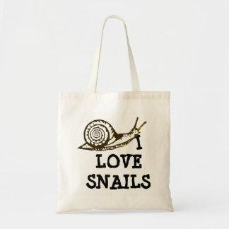 Bolsa Tote Eu amo caracóis