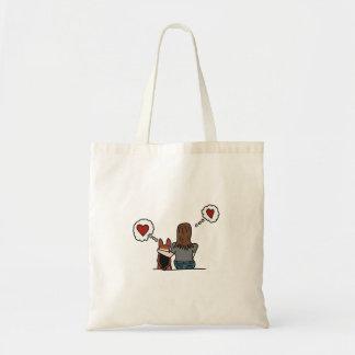 Bolsa Tote Eu amo meu corgi e meu corgi ama-me. Série #3