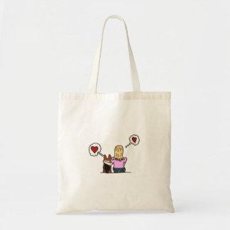Bolsa Tote Eu amo meu corgi e meu corgi ama-me. Série #4