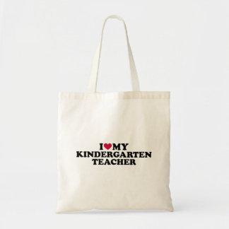 Bolsa Tote Eu amo meu professor de jardim de infância