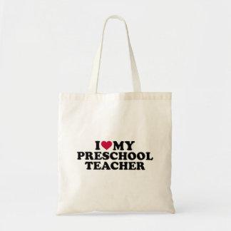 Bolsa Tote Eu amo meu professor pré-escolar